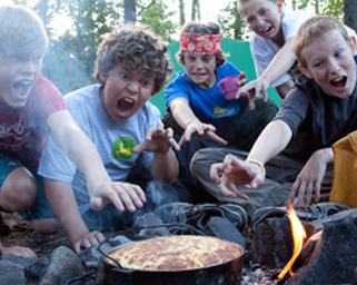 Food plays a major role in camp life, whether it is meals in Nash Lodge or preparing your dinner over a campfire on trail.