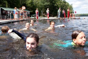 Swimming is a big part of the Camp Manito-wish Summer Camp experience.